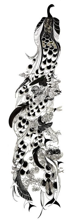 Peacock. would be an awesome full tattoo
