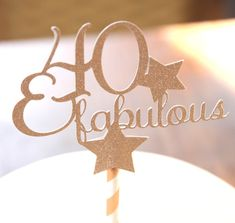 Excited to share the latest addition to my #etsy shop: Rose Gold 40 and Fabulous Cake Topper, 40th Birthday Party Ideas, 40 Years Old, Birthday Party Decorations, Fortieth , Glitter Cake