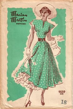 1940s Marian Martin 9059 FF Vintage Sewing Pattern Misses