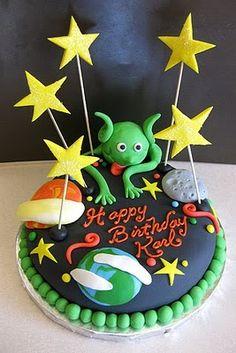 Outstanding 120 Best Cakes Alien Images Alien Cake Cake Alien Funny Birthday Cards Online Elaedamsfinfo