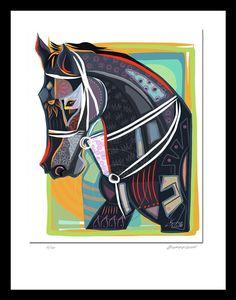 Tribute to Eight Belles Horses Art Print