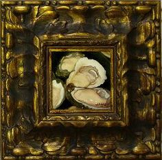We have this lovely ornate frame, which surrounds an oyster painting by Mark Adams, available for your favourite artwork.  Look how it brings a certain gravitas to the humble oyster.