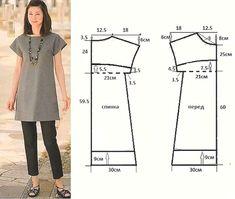 Por su diseño de corte práctico y funcional, esta prenda puede llevarse como blusón,con pantalones o legins debajo, o como vestido corto de verano. Para confeccionarlo escoge una pieza de tela de …