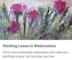 This course is all about helping you unlock your inner creativity and discovering ways to make your watercolor paintings unique. If you struggle with painting loosely in watercolors let me show you how to loosen up and have some fun creating interesting watercolors that leave things for the eye to interpret.