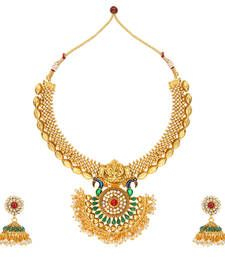 Buy Multicolor polki Pearl necklace sets necklace-set online