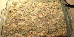 Cheesy Green Bean Casserole - by Caveman Keto 4 Cans French Cut Green Beans 1 medium Onion 4 Stalks Celery 8 oz Sliced Mushrooms 1 Cup Heavy Cream ½ Cup Mayo 8 oz Monterey Jack Cheese 8 oz Cheddar Cheese To Taste Salt and Pepper