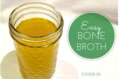 Easy Bone Broth and almost FREE. Dont throw away all those bones after a roast dinner, make easy bone broth which is packed with nutrients, glucosamine, chondroitin, gelatin and trace elements . You'll love it. | http://www.ditchthecarbs.com/2014/06/16/easy-bone-broth/
