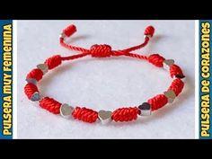 COMO HACER PULSERAS DE HILO PARA REGALAR O VENDER / TUTORIAL DE PULSERAS / DIY - YouTube Diy Bracelets Video, Thread Bracelets, Bracelet Crafts, Handmade Bracelets, Macrame Necklace, Macrame Jewelry, Macrame Bracelets, Macrame Tutorial, Bracelet Tutorial