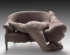 """DOROTHEA TANNING, """"CANAPÉ DES JOURS DE PLUIE"""", 1970 / weed, upholstered wood sofa, wool, ping-pong balls, and cardboard, Philadelphia Museum of Art / """"This terribly non-mainstream piece was, more than anything, a challenge to myself, a bet that I made with myself, and only me, that I would give real physical life to a bunch of tweeds and stuffing"""" -Dorothea Tanning / Artist and poet married Max Ernst, Dorothea Tanning died at 101, last February / Click twice the picture to know more about he..."""