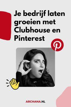 Als Pinterest Marketing Expert ben ik altijd op zoek naar inspiratie voor het creëren van nieuwe content voor mijn Pinterest account, website, blog en social media. Hoe kan ik Clubhouse inzetten om mijn resultaten met Pinterest te laten groeien zodat ik meer traffic krijg naar mijn website. - clubhouse app tips | wat is clubhouse | hoe werkt clubhouse | clubhouse strategy | clubhouse nederland | clubhouse voor ondernemers | clubhouse voor bedrijven - ARCHANA.NL - Archana Haarnack Instagram Blog, Pinterest For Business, Blogging For Beginners, Growing Your Business, Social Media Tips, Blog Tips, Pinterest Marketing, Apps, Meet