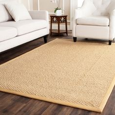 Safavieh Chunky Basketweave Maize Beige Sisal Rug - Overstock™ Shopping - Great Deals on Safavieh 7x9 - 10x14 Rugs