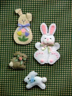 Bunny Magnets and Pins