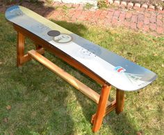 Snowboard Bench by maineskichairs on Etsy