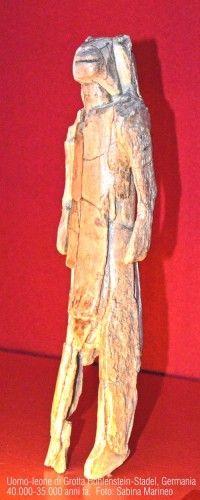uomo-leone di Hohlenstein-Stadel, avorio di mammut. 40.000 - 35.000 anni fa