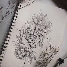 Leo Tattoos, Dope Tattoos, Body Art Tattoos, Tattoo Drawings, Compass Tattoo, Piercing, Sugar Skull Tattoos, Sugar Tattoo, Infinity Tattoos