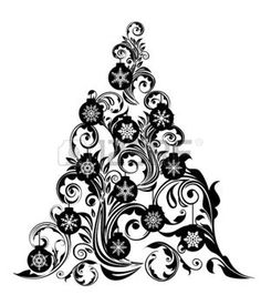 christmas decorations clipart black and white google search