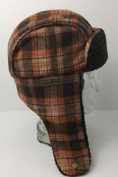 672b2659acf Life Is Good Winter Bomber Trapper Hat With Ear Flaps Plaid Small Excellent