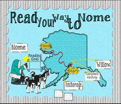 Iditarod Bulletin Board Set with Activities by The Teacher Reading Goals, Reading Counts, Reading Challenge, Library Bulletin Boards, Social Studies Activities, Christian School, Readers Workshop, School Fun, Middle School