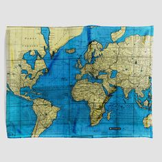 1800s the world map voyages captain cook large vintage poster by world map blanket gumiabroncs Image collections