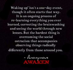 Awaken to Our Awful Situation