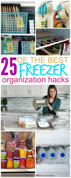 25 Ways to Organize Your Freezer That Will Save Your Sanity! These tips are AMAZING!