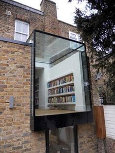 I love this idea. So much natural light for reading!