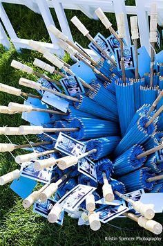 for outdoor wedding wedding details ~ blue parasols Perfect Wedding, Dream Wedding, Wedding Day, Wedding Tips, Wedding Stuff, Wedding Planner, Destination Wedding, Hanging Wedding Decorations, Never Getting Married