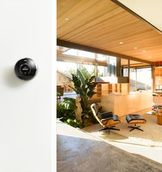 Nest built in - the Nest thermostat will come standard in LivingHomes prefab houses, Pecan Street energy-efficient homes and New Avenue Homes cottages.
