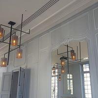 Création design d'un luminaire : Le plafonnier Grand Lust pour le cercle Le Brun à Paris.