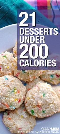 You won't have to feel guilty after eating these tasty treats! 21 desserts under 200 calories that will leave you feeling light on your feet.
