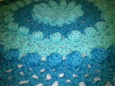 """Купить Ковер """"Тортик"""" цвета морской волны+ярко-бирюзовый - комбинированный, бирюзовый, цвет морской волны"""