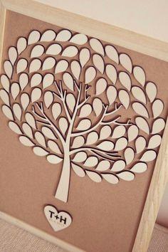 Custom wedding guest book alternative  3D by TotallySalinda, $85.00