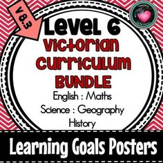YR 6 VICTORIAN CURRICULUM LEARNING GOALS ENGLISH MATHS SCIENCE GEOGRAPHY HISTORY