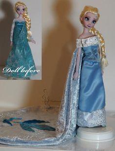 Elsa queen of Arendelle doll Lulemee Ooak-Art