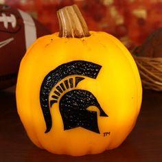 Michigan State Spartans Wax Pumpkin Luminary