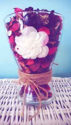 I Wasn't Expecting That...: Recycled Flower Vase : Pot Pourri Holder..