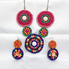 Bohemian Jewelry Set, Unique Bohemian Necklace, Boho Earrings, Boho Statement Necklace, Colourfull Necklace,Stone Necklace,Beads,Unique Gift by AfifShop on Etsy