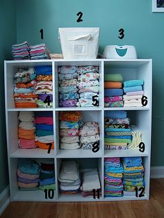 Cloth Diaper (Fluff) Organizing - I need to get on this level rather than using 'em right out of the basket!