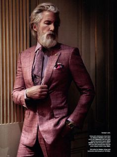 Bearded Men(not to take anything away from the man)...BUT THAT SUIT!!