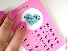 Cute kitty cat silhouette nail decals