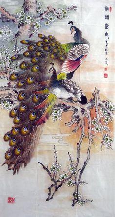 Peacock Peahen,69cm x 138cm(27〃 x 54〃),2621009-z
