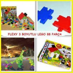 Eğitici Oyuncak Flexy 88 Parça Lego Blok Seti GittiGidiyor'da 249424399