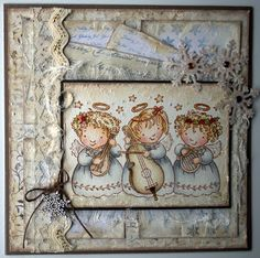 Stampavie, Magical Angels, Christmas card, Distress Ink