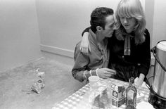 Joe Strummer and Gaby Salter