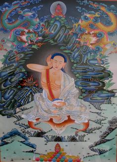 """Milarepa (1040 - 1123) - """"The voice of the cuckoo is so moving, / And so tuneful is the lark's sweet singing, / That when I hear them I cannot help but listen -  When I listen to them, / I cannot help but shed my tears. / Even without a single friend, / To remain here is a pleasure. With joy flowing from my heart, I sing this happy song; /   May the dark shadow of all men's sorrows / Be dispelled by my joyful singing."""""""