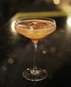 Cosmo's Cosmo, available at The Cosmopolitan Las Vegas' Chandelier Bar.   ¼ oz Cranberry Simple  ½ oz Fresh Lemon  1 oz White Cranberry Juice   ¾ oz Solerno Blood Orange  1 ½ oz Hangar One Mandarin    Assemble all ingredients and shake vigorously.  Strain into glass  Garnish with 3 picked cranberries