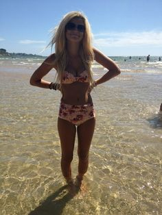 cutest swimsuit ever...if you are 16 and tiny and don't have a mom gut...if only ;)