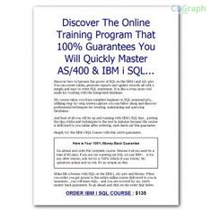 Discover The Online Course That Will Have You Mastering Sql On The Ibm I. Study Course Sells For $135 With 60% Commission. See more! : http://get-now.natantoday.com/lp.php?target=sqloni
