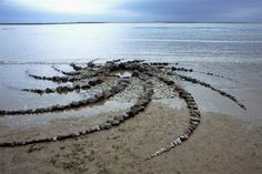 Christopher Dunseath, 'Appledore Wormhole', basalt and shingle, 50x800x800cm, 2003.  A site specific piece of Land Art constructed while artist in Residence at Appledore Arts Festival.