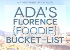 Best Restaurants in Florence, Italy | universityfoodie.com #travel #food #italy #florence